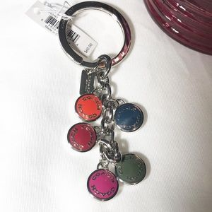 🌼 Coach Keychain | Button Disc | Multicolor | NWT